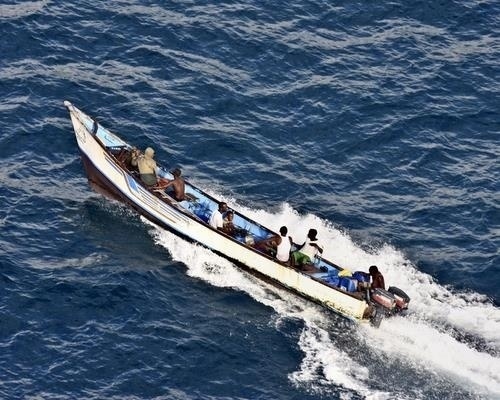 The main tool used by Somalis to hunt for prize is the humble fisherman's skiff - usually a 24 foot, flat-bottomed boat, with 3 foot high sides, usually powered by a couple of outboard motors. Used by fishermen to drop and drag nets, the skiffs can carry up to a dozen pirates armed with AK-47s and RPGs. The average skiff can make approaches on a target vessel at up 25 knots, but requires calm seas - a chop of more than 5 feet can easily flood and capsize the craft. That's why studying wind and wave is so important in predicting Somali pirate activity.