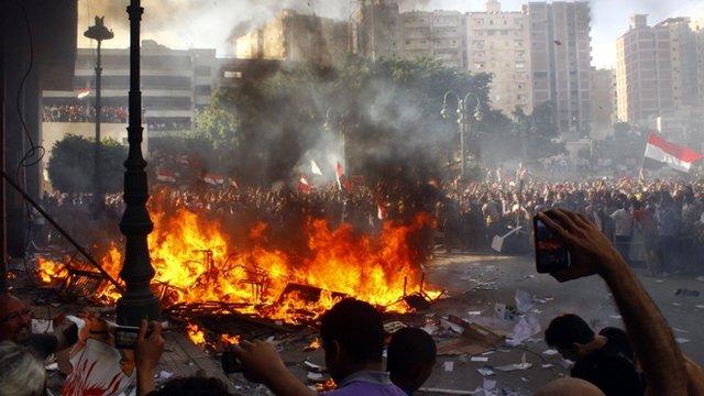 This shows fresh rioting in Egypt as of June 2013. The first anniversary of the Morsi regime is triggering protests across the country, while the military insists that chaos will not be tolerated, and the Suez Canal will stay open. International shippers are starting to doubt that. And as the social unrest spreads, the pressure builds on Cairo to raise the fees for transiting the Canal, which is the last major source of foreign exchange for the regime. As time goes on, the Canal will become a riskier as well as more expensive proposition.